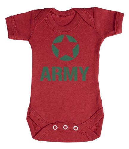 Baby Buddha - Army Bodys bébé 0-3 Mois Rouge