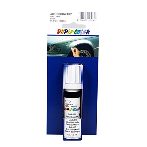 Dupli-Color 189906 Standard-Lackstift Auto schwarz 12ml, Black