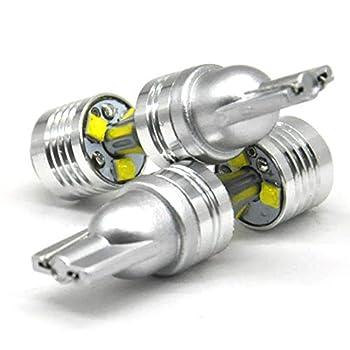 Tuoyao 2PCS White T10 Cree 6 LED Wedge Car Side Door Tail Light Bulb 912 921 W16W W5W 194 168 2825 12V LED Backup Reverse Light 6000K 2600Lumens Super Bright T15 906 904 902
