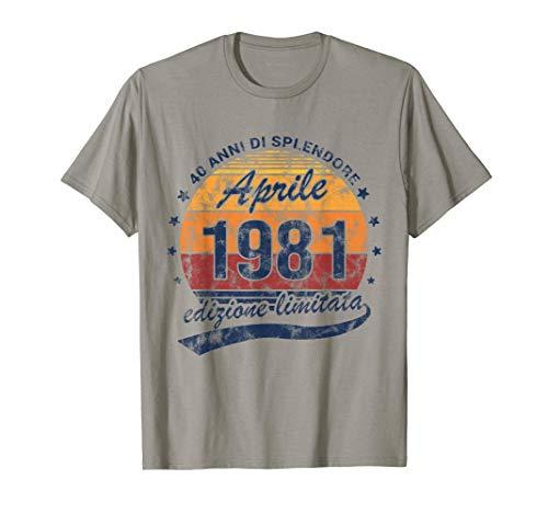 40 Anni Di Splendore Annata Aprile 1981 Compleanno Maglietta