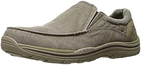Skechers Men's Expected Avillo Relaxed-Fit Slip-On Loafer,Khaki,12 D US
