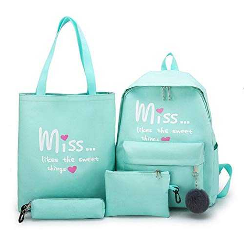 N / A Women School Backpacks Oxford Cloth Waterproof Schoolbag For Teenage Girls Student Book Bag Lady Travel Casual Bagpack as show