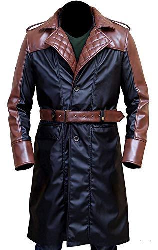 Leather Coats for Men - Swedish Bomber Leather Jacket Fur Coat Distressed Brown
