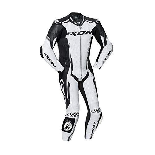 Ixon 102201011–2012–Traje moto, color blanco negro, XXL