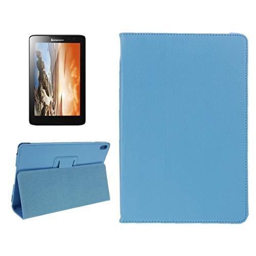 MKOKO Case Litchi - Funda de piel magnética con soporte para Lenovo A10-70 y A7600 (color: azul)