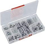 Werkzeyt Druck- und Zugfeder-Sortiment 200-teilig - Diverse Größen im Set - Verzinkt - Vorsortiert in praktischer Kunststoffbox / Spiralfedern / Sortimentskasten / B34153