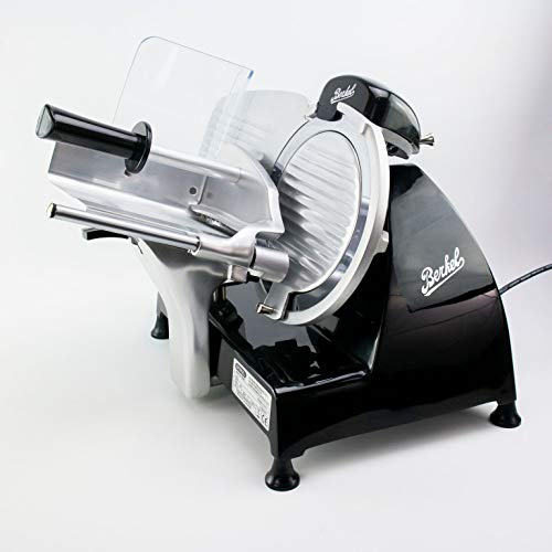 Berkel Red Line Serie 220, Gastro-Aufschnittmaschine mit integriertem Schleifapparat, inkl. Fassholzbrett 30x18 cm