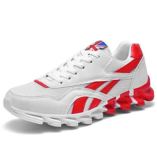 ZIJ Zapatillas de Mujer y Hombres Zapatillas Transpirables Zapatillas Deportivas al Aire Libre Moda cómoda Pareja Casual Zapatos de Gimnasio (Color : Blanco, Shoe Size : 38)