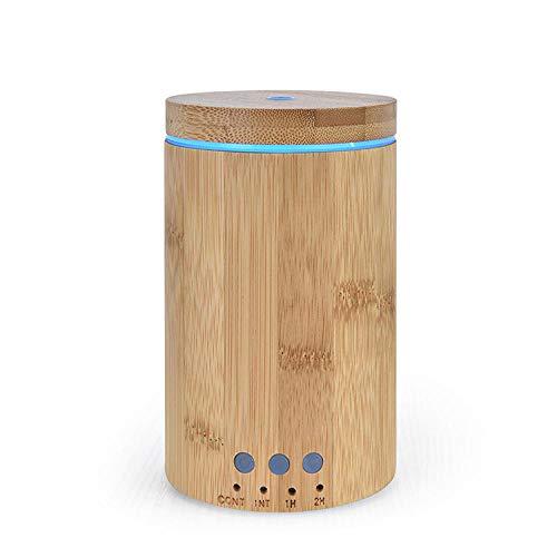 Huishoudelijke stille aromatherapie machine luchtbevochtiger bamboe lamp ultrasone aromatherapie etherische olie diffuser-Geel