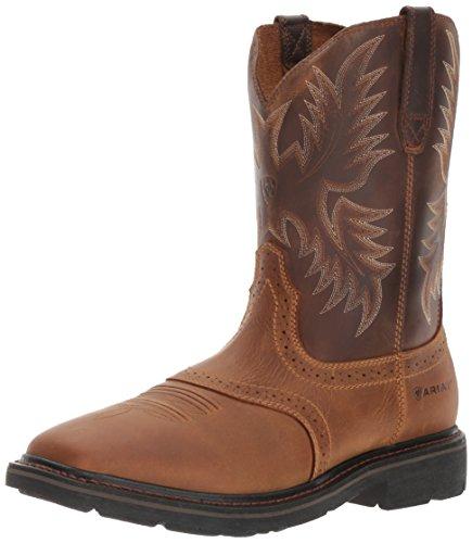 Ariat Men's Sierra Wide Square Toe Work Boot, Aged Bark, 10.5 M US