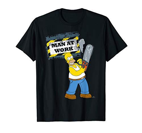 Herren The Simpsons Homer Graphic Man Work T-Shirt