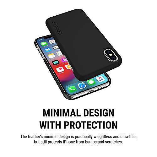 Incipio Feather IPH-1781-BLK Protective Case for Apple iPhone X/XS - Black