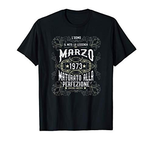 48 Anni Regalo Compleanno Legenda nata nel Marzo 1973 Maglietta