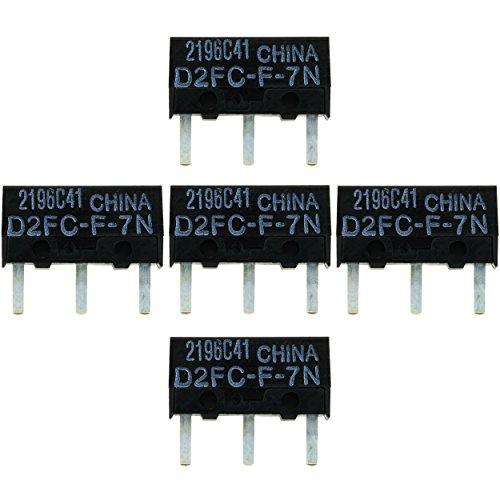 IT-Services Irro 5X D2FC-F-7N Mikroschalter Reparatur-Satz/Repair-Kit passend für Mäuse von Logitech, Razer, Roccat, SteelSeries und Weitere