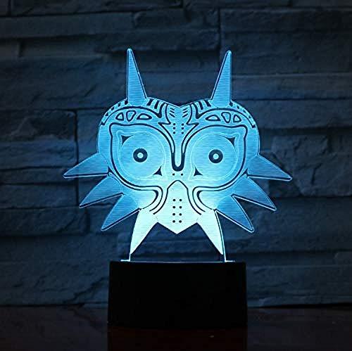 Legende von Zelda Figur Majoras Maske 3D Lava Lampe Creative 7 Farbwechsel Led Nachtlicht