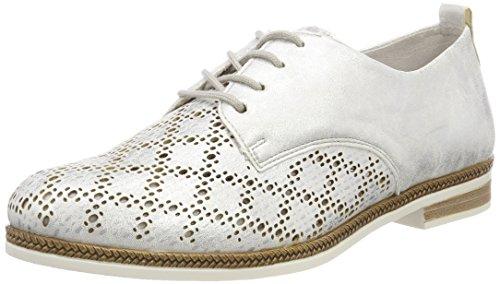 Remonte D2604 Zapatos de cordones oxford Mujer, Plata (Silber/Platin), 38 EU
