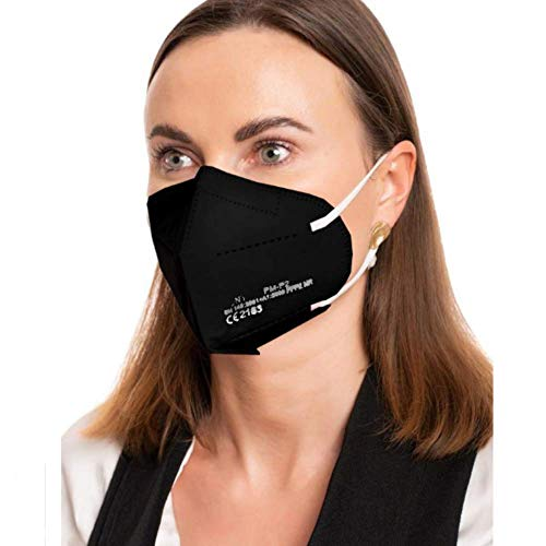 ProMedicalCare. Mundschutz FFP2 Maske schwarz, Mundschutz Maske FFP2 schwarz, Masken Mundschutz FFP2, 10er Pack (einzelverpackt)