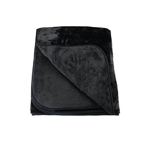 Amago knuffeldeken, voelt als kasjmier, zwart, 130 × 170 cm, 40024-94-1317