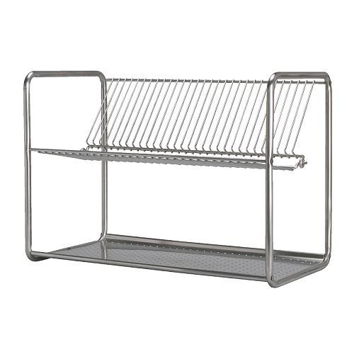 IKEA ORDNING - Escurreplatos de acero inoxidable (50 x 27 x 36 cm)