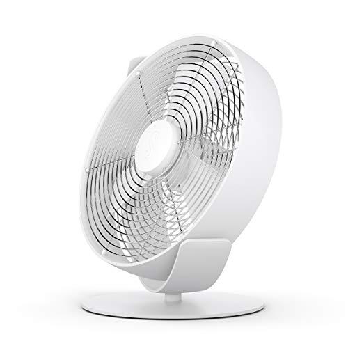 Stadler Form Tischventilator Tim, kühlt leise mit stufenlosem Drehzahlregler, mit USB-Anschluss, ideal für Schlafzimmer und Büro, weiss