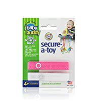 Marque Baby Buddy - Secure-A-Toy, rose-blanc