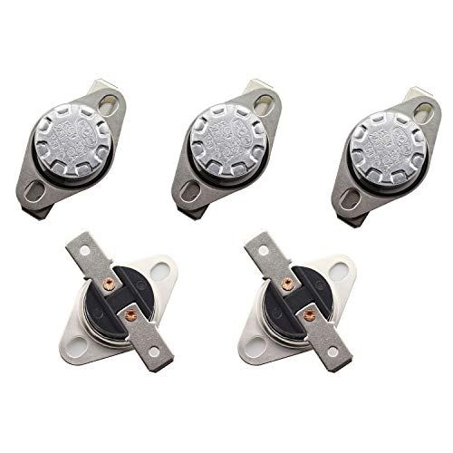 TOTOT 5PCS KSD301 DegC 150 Thermal Control Switch 250V 10A Normally Closed NC Thermostat Temperature Switch