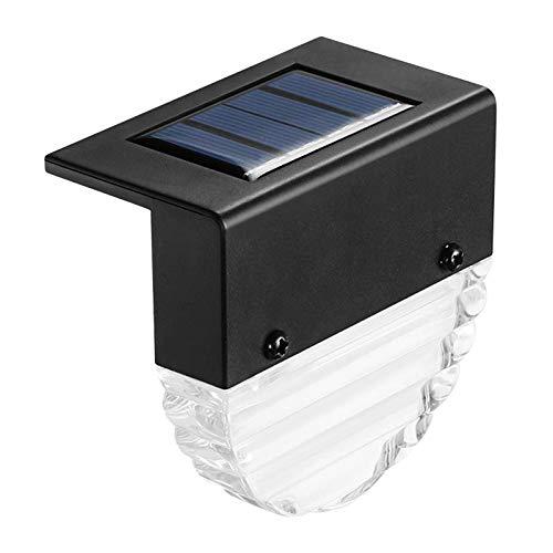 PETSOLA Luz Solar de Paso de Mayor Resistencia Color Blanco Cálido para Escaleras de Barandilla de Cubierta