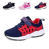 Baskets Enfants Unisexe Garçons Chaussures Respirant Route en Cours Filles Légère Sneakers,Bleu,36 EU