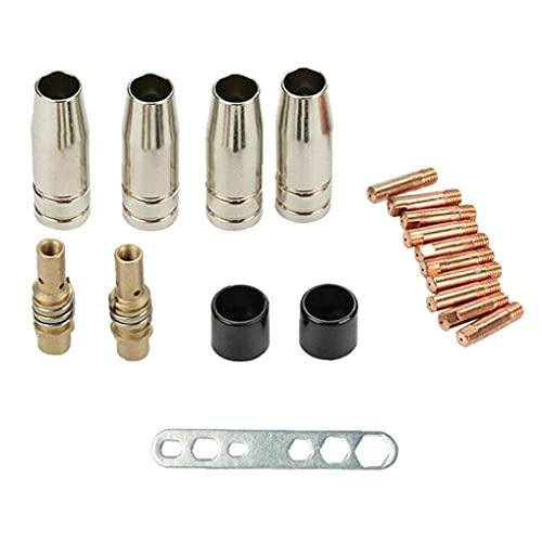 Accesorios de antorcha Torch Soldador Contacto Consejos Titulares M6 Boquilla de gas Soldadura MIG/MAG MB Conjunto Accesorios 19pcs Accesorios