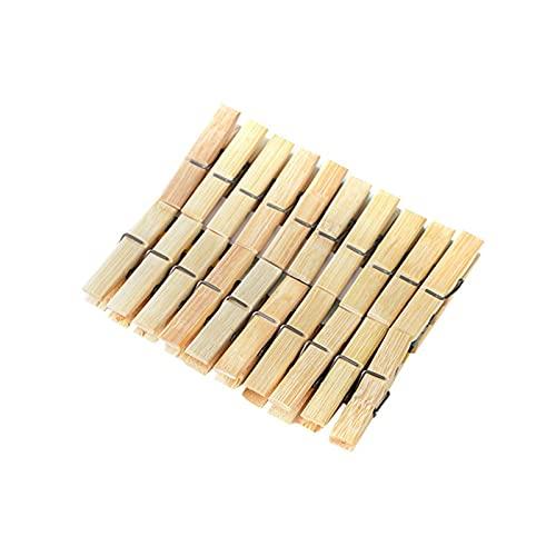 DWAC 100 PCS Clothespin De Bambú, Clavijas De Madera A Prueba De Viento para Artesanías, Camisas, Hojas, Pantalones, Decoraciones 6 * 1 Cm