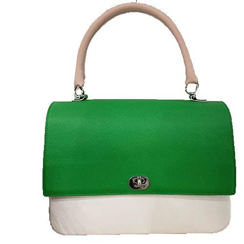 Bolso O bag Queen de mano verde mango corto polvo
