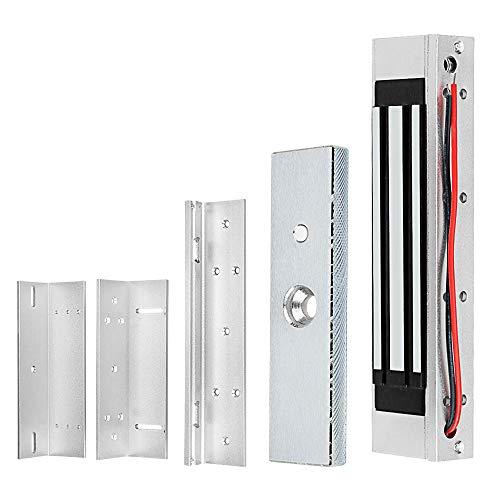 GXY 180KG/350lbs cerradura magnética+soporte de ZL para puerta de cristal, puerta de madera, puerta de metal, puerta corredera DC12V Fail Safe NC Door Lock