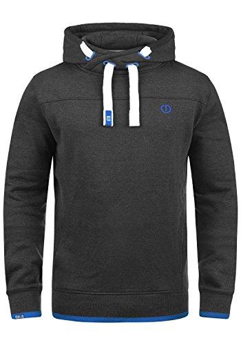 !Solid Benjamin Hood Herren Kapuzenpullover Hoodie Pullover Mit Kapuze Cross-Over-Kragen Und Fleece-Innenseite, Größe:XL, Farbe:Dark Grey Melange (8999)