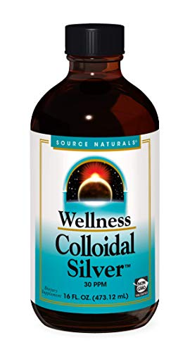 Source Naturals Wellness Colloidal Silver 30 ppm Supports Physical Well Being - 16 Fluid oz