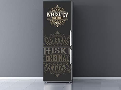 Oedim Vinilo Frigorífico Old Brand Whiskey, Vinilo Decorativo para neveras, decoración para cocinas, Pegatina Nevera