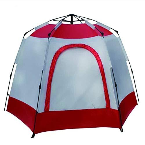 Tienda de campaña Hexagonal de Doble Capa a Prueba de Lluvia Gran Tienda de campaña Tienda de montañismo