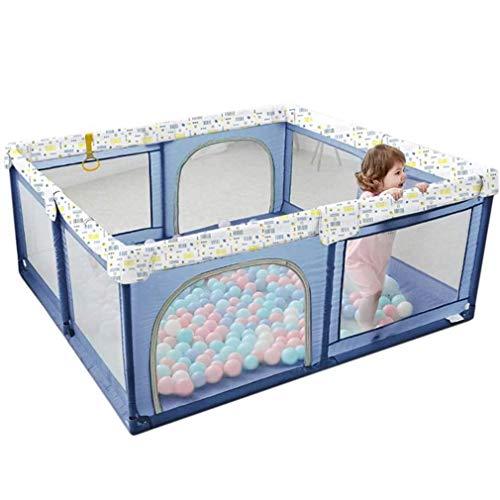ZEFENG Un corralito portátil Parque Infantil, Extra Grande corralito for niños pequeños, Caja Kids Play Yard & Activity Center, Anti-caída corralito for bebés (Size : 160x200cm/63x79in)