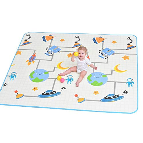Best Prices! JIANGXIUQIN Baby Play Mat Double-Sided Crawling Mat Baby Reversible Play Mat Foldable W...