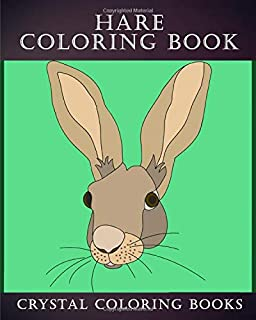 Hare Coloring Book: 30 Simple Line Doodle Style Hare Drawings To Color. A Great Gift For Any Child Or Adults That Love Easy Hand Drawn Artwork. (Animals)