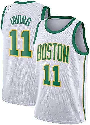 jiaju Ropa Baloncesto para Hombre NBA Jersey Boston Celtics 11# Irving 2021 Transpirable Quick Secking Sin Mangas Vestima Top para Deportes, Verde, M (Color : White, Size : S)