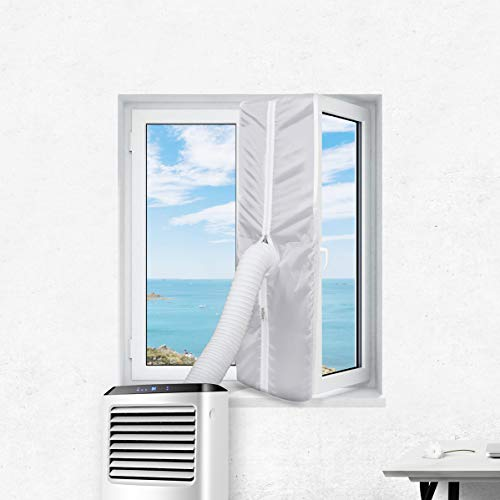 SekeyFensterabdichtung für mobile Klimageräte, Klimaanlagen, Wäschetrockner, Ablufttrockner, Hot Air Stop zum Anbringen an Fenster, Dachfenster, Flügelfenster/Fensterabdichtung Klimaanlage 300cm
