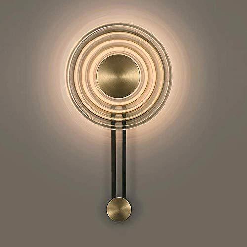 YANQING Moderno Luz Creativa de Cobre de la Sala Pared del Dormitorio de la lámpara de cabecera de la Personalidad del Pasillo Lámpara de Pared Moderna 30 * 55.5cm iluminar su Vida