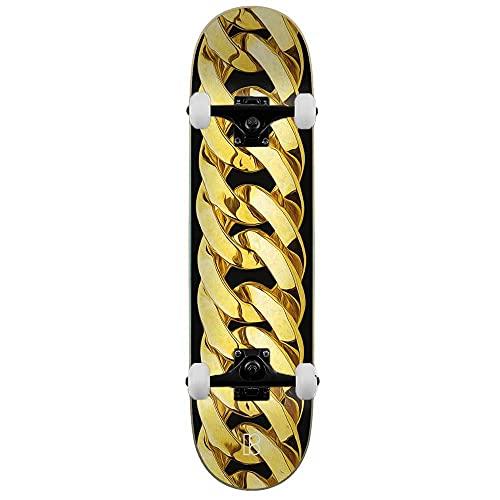 Plan B Chain - Skateboard completo, 21 cm, colore: Oro