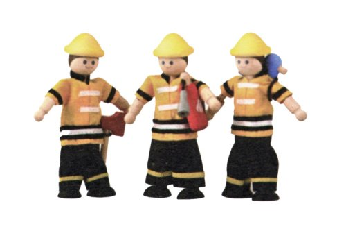 PlanToys - PT7420 - Jouet en bois - Les Pompiers