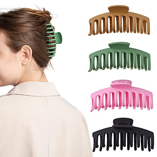 4Pcs Large Hair Claw Clips for W...