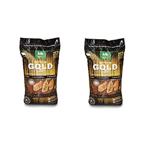 Green Mountain Premium Gold Blend Hardwood Grilling Cooking Pellets (2 Pack)