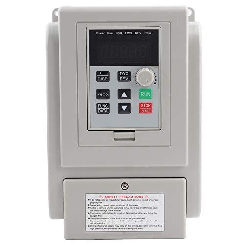 Controlador de velocidad VFD de variador de frecuencia para motor de CA monofásico de 1,5 kW, convertidor, convertidor, control de velocidad del motor del husillo (220 V CA)