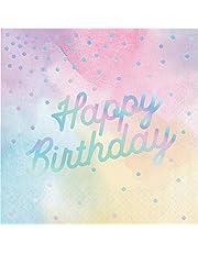 Creative Converting 336699، IRIDESCENT LUNCHEON NAPKIN، عيد ميلاد سعيد، 0.055x12.75x12.875inc