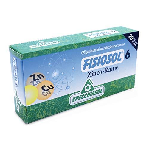 Fisiosol 6 Zinc-Cobre 20 ampollas de Specchiasol