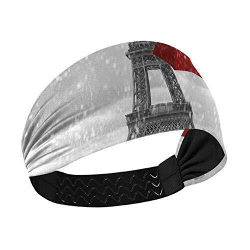Diademas para mujer Torre Eiffel Paraguas voladores Negro Blanco Fascinator Diadema con...